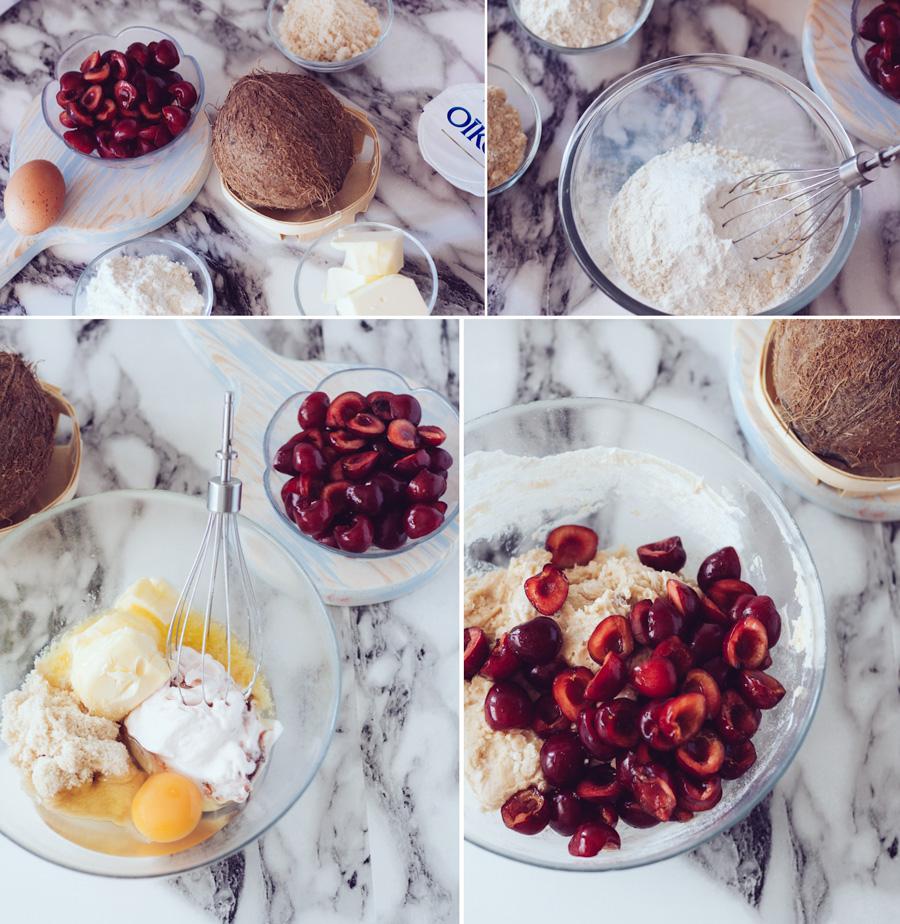 Cherry Muffins Preparation